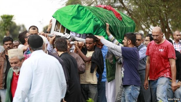 Funeral for Rehmad Mehbub, 18, killed in Nairobi attack (22 September)