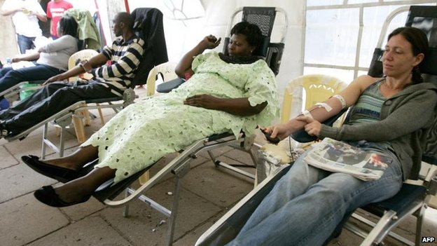 Blood donors in Nairobi (22 September)