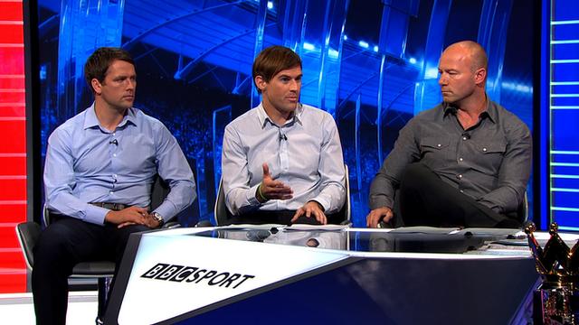 Alan Shearer, Kevin Kilbane and Michael Owen