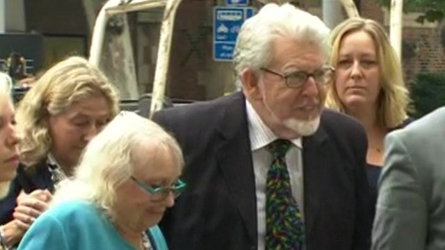 Rolf Harris arriving at court