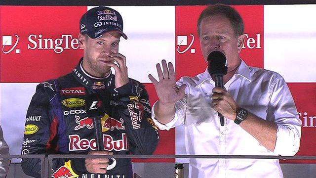 Sebastian Vettel and Martin Brundle