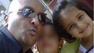 Louis Bawa and unknown child and Jennah Bawa