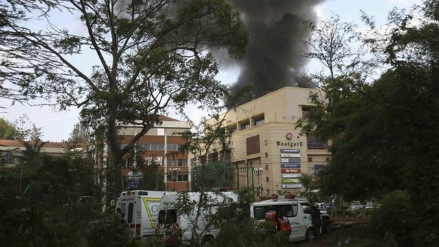 Smoke rises over Westgate shopping centre
