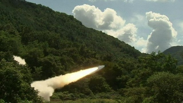 US military forces test Multiple Launch Rocket System in South Korea