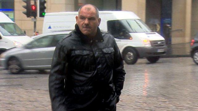 Gary McCourt arrives at court