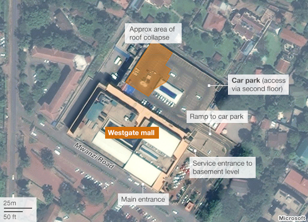 Graphic: Satellite image of Westgate mall