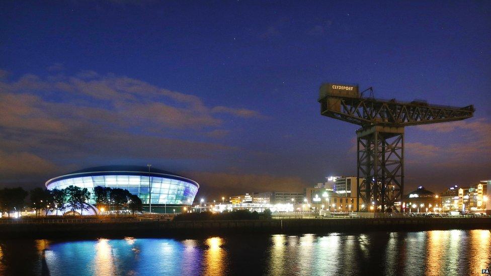 New Hydro Arena Lights Up The Glasgow Skyline