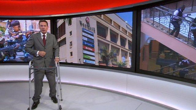 Frank Gardner in BBC News studio