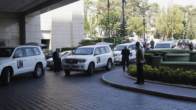 United Nations chemical weapons experts in Damascus