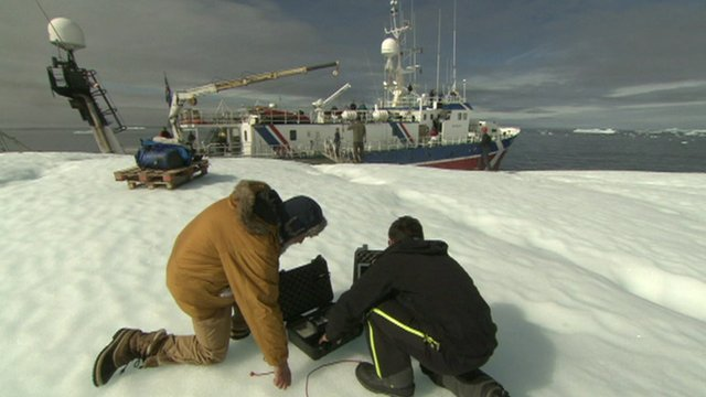Scientists on ice