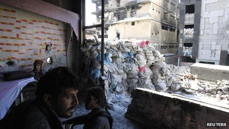 Free Syrian Army fighters in Aleppo, 26 Sept