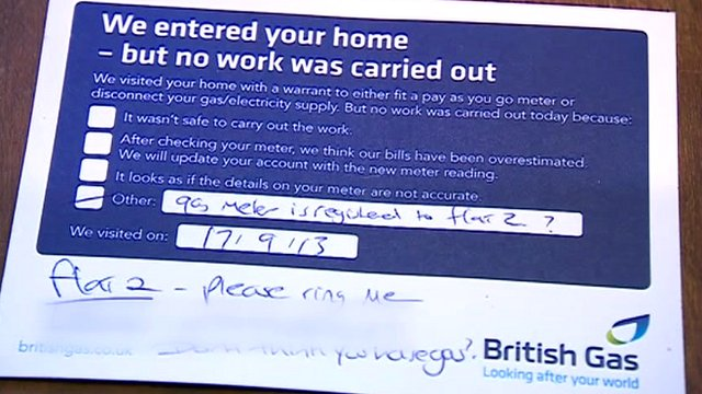 British Gas notice