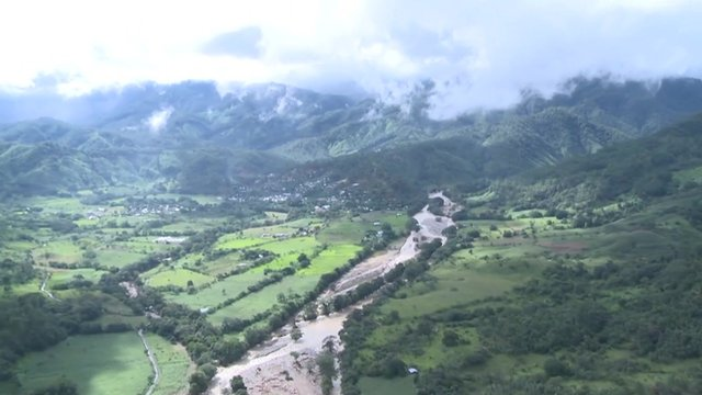 Aerial shot of devastation