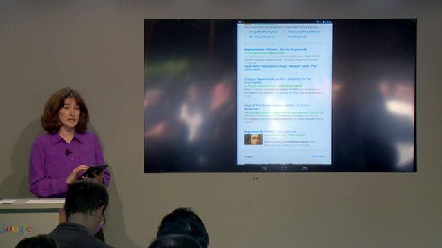 Tamar Yehoshua of Google Search demonstrates Google's new user interface