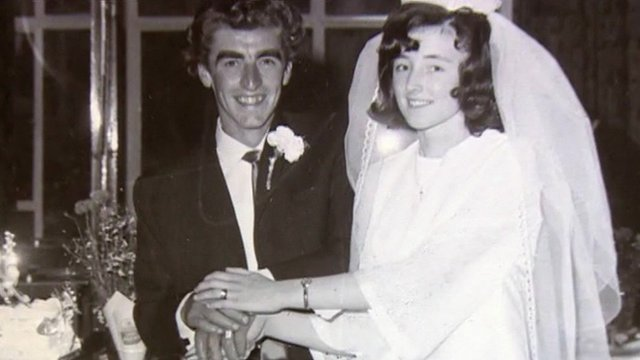 David and Brenda Caunter on their wedding day