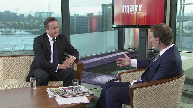 David Cameron on Andrew Marr show