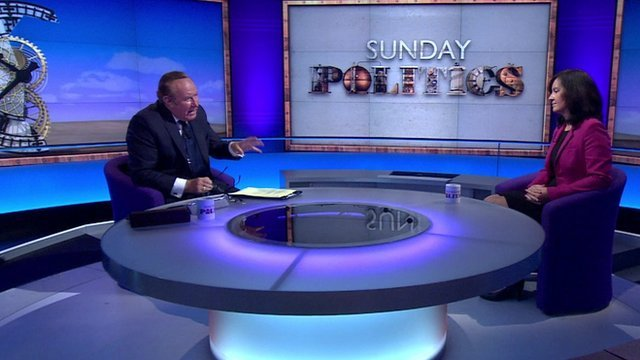 Andrew Neil and Caroline Flint