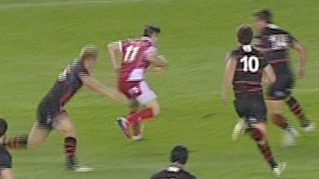 Jordan Williams attacks Edinburgh