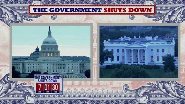 'Government Shuts Down' graphic