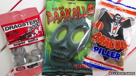 Finnish salmiakki sweets