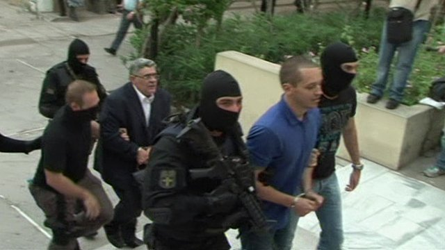 Golden Dawn court arrivals