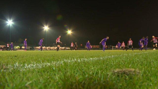 Football match at AFC Hornchurch