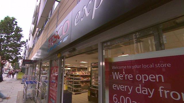 Tesco Express shop front