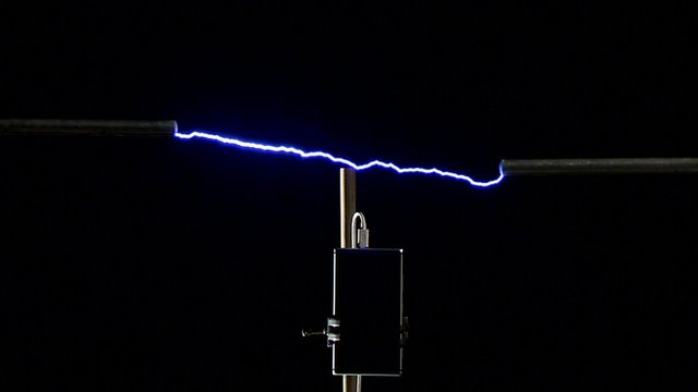 Scientists recreating a lightning bolt to charge a mobile phone