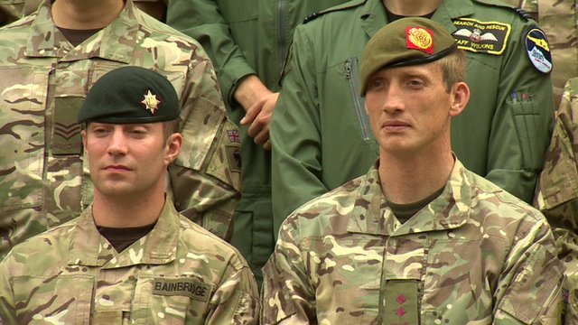Two servicemen recommended for honours