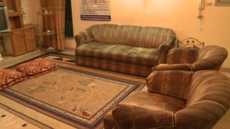 The lounge at the Sach refuge