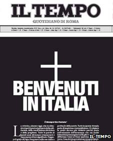 Il Tempo front page