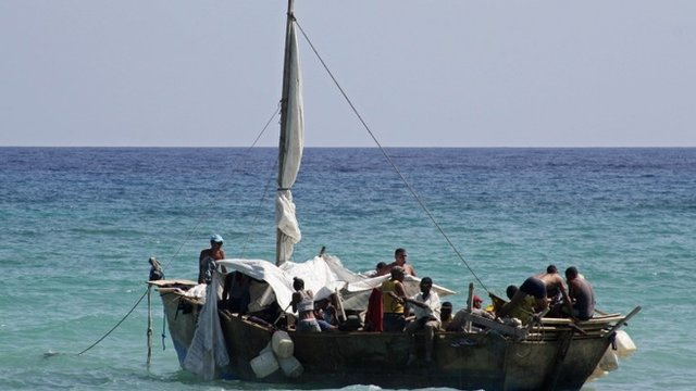 Boat carrying migrants