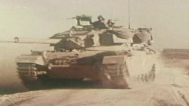 Tank on the Golan Heights