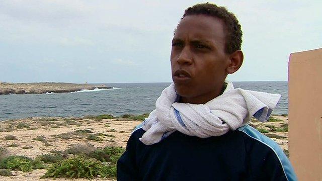 Lampedusa sinking survivor