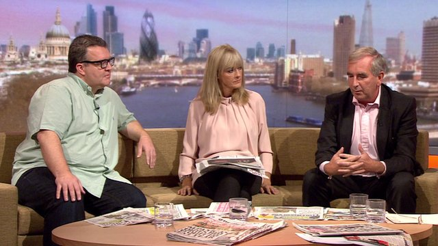 Tom Watson, Jane Moore and Robert Harris