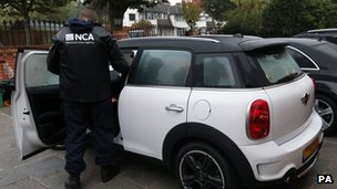 NCA officers on first operation in Bromley