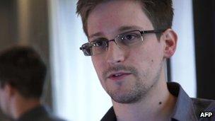 Photo of Edward Snowden taken in June 2013