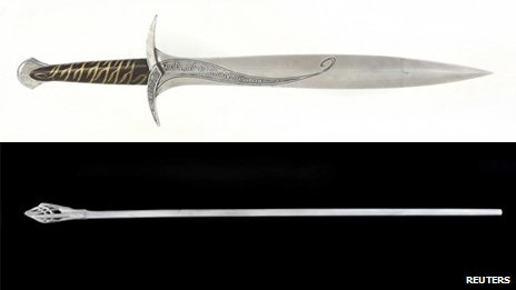 Sting swords and staff