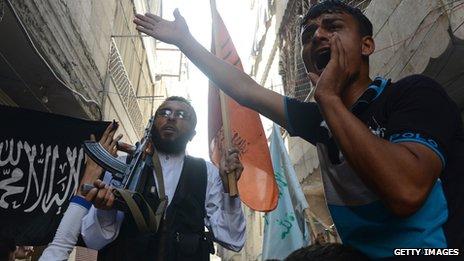 An anti-regime protestor and FSA commander in Aleppo, 2012