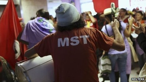 Movement of Landless Workers protest in Brazil