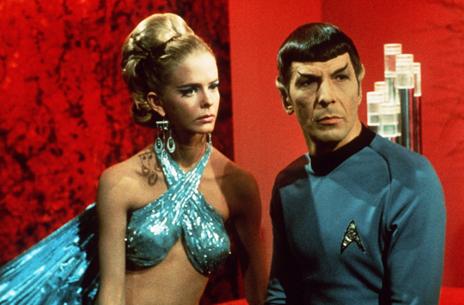 Mr Spock and female companion in Star Trek
