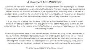 WHSmith.co.uk statement