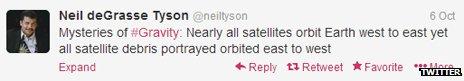 One of Neil deGrasse Tyson's tweets