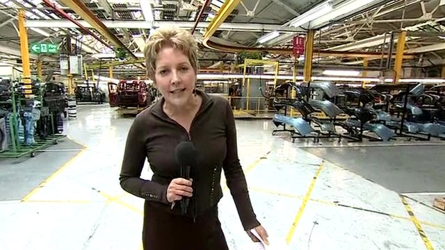 Carrie Gracie in London Taxi Company factory