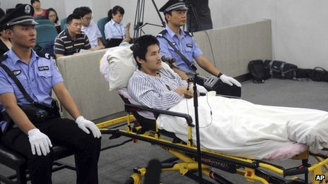 Ji Zhongxing appears at the Beijing Chaoyang District People's Court in Beijing on 17 September 2013