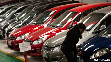 A picture of a Chinese car dealership in Caracas in March 2012