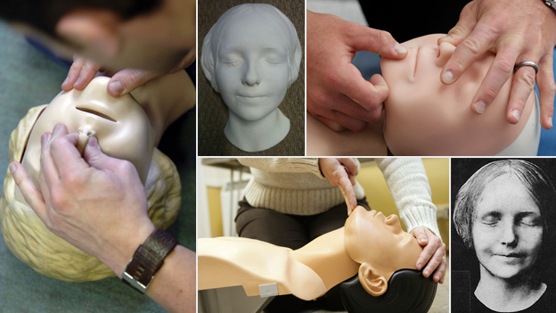 First aid dummy and the death mask