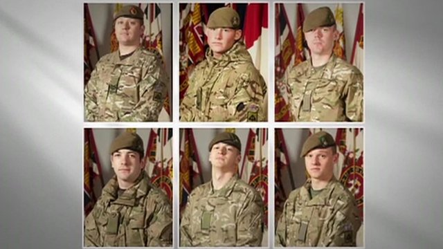 Six soldiers who died