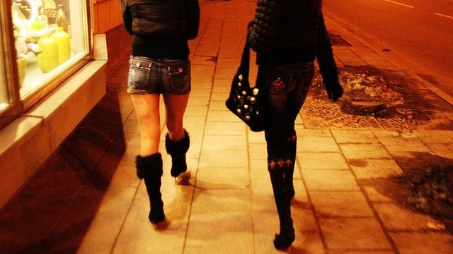 Prostitutes walking the streets