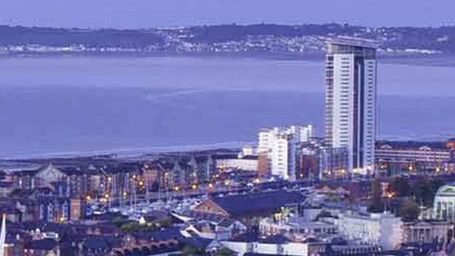 The 29-storey Meridian Tower block on the seafront is thriving